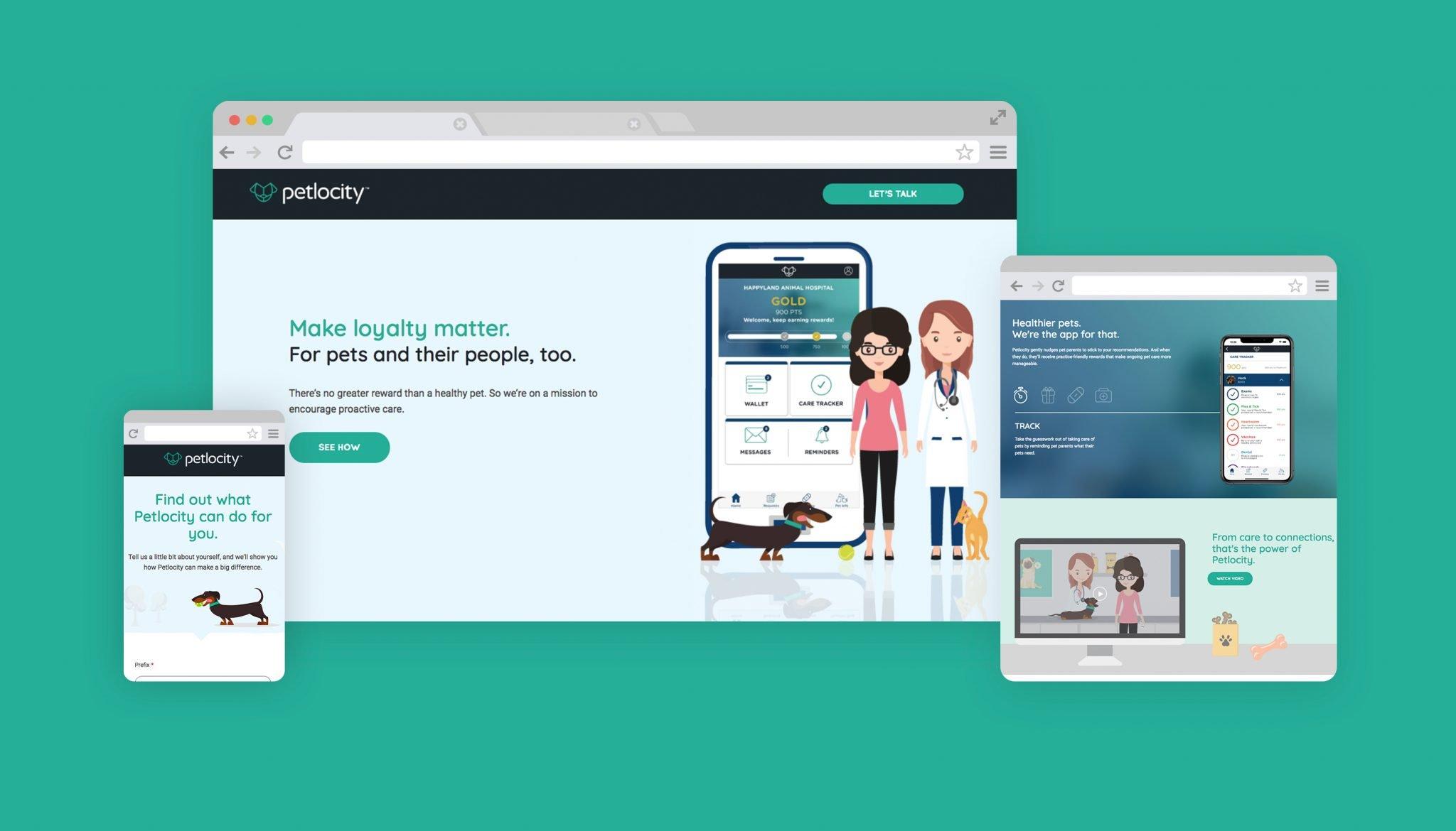 Award-winning app development and marketing campaign for pet owners & veterinarians Petlocity